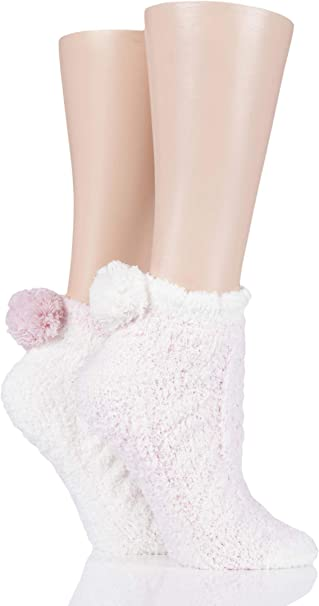 Elle Ladies Cosy Cable Anklet Socks