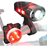 HeroBeam Ultimate USB Rechargeable Bike Light Set – Unique Side Visibility – The Safest Lighting Combination Set with Front and Rear Bicycle Lights – Easy to Install for Adults and Kids