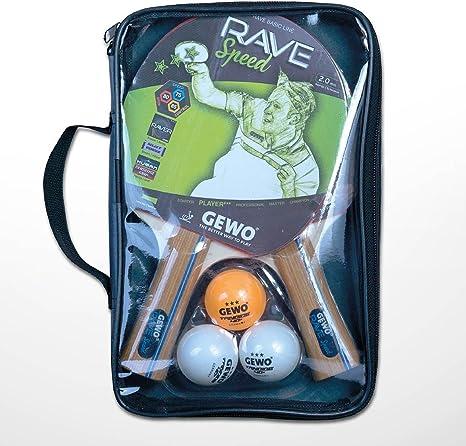 GEWO - Juego de Raquetas de Tenis de Mesa Rave Speed, Marrones, tamaño único: Amazon.es: Deportes y aire libre