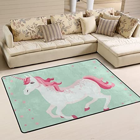 area rug on carpet living room. COOSUN Unicorn Area Rug Carpet Non-Slip Floor Mat Doormats For Living Room Bedroom 91.4 On