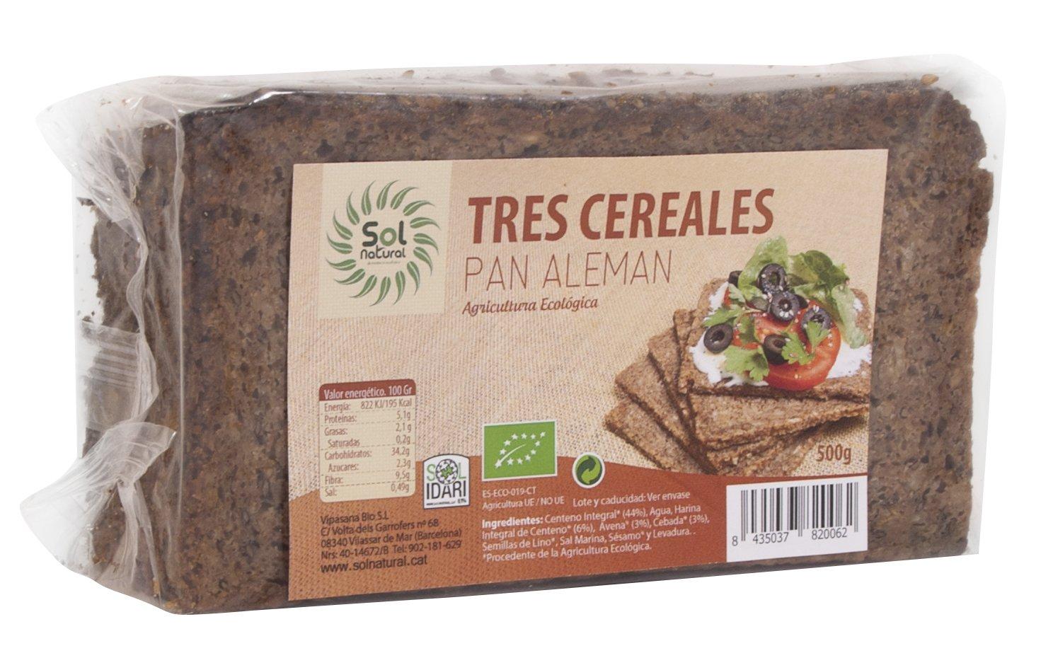 Sol Natural Pan Aleman 3 Cereales 500 Gramos: Amazon.es: Alimentación y bebidas