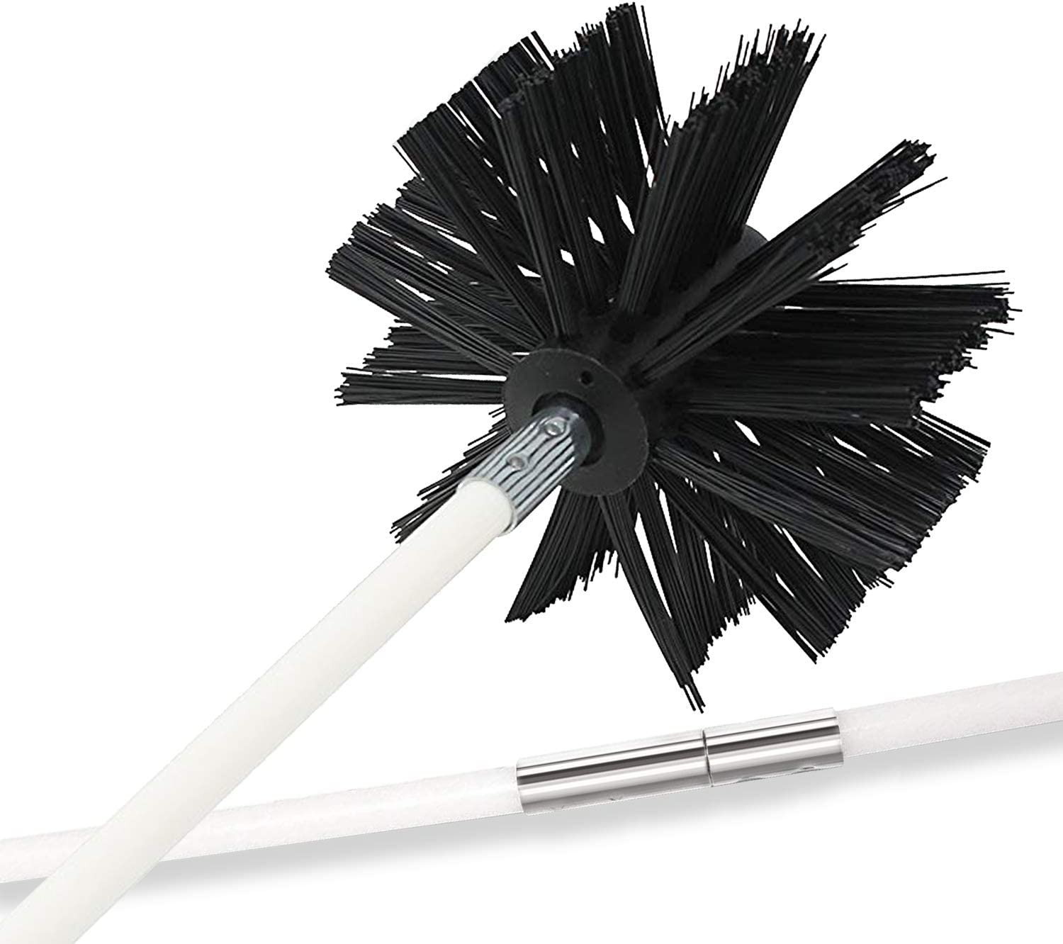 Holikme 15 Feet Dryer Vent Cleaning Brush, Lint Remover, Extends Up to 15 Feet, Synthetic Brush Head, Use with or Without a Power Drill