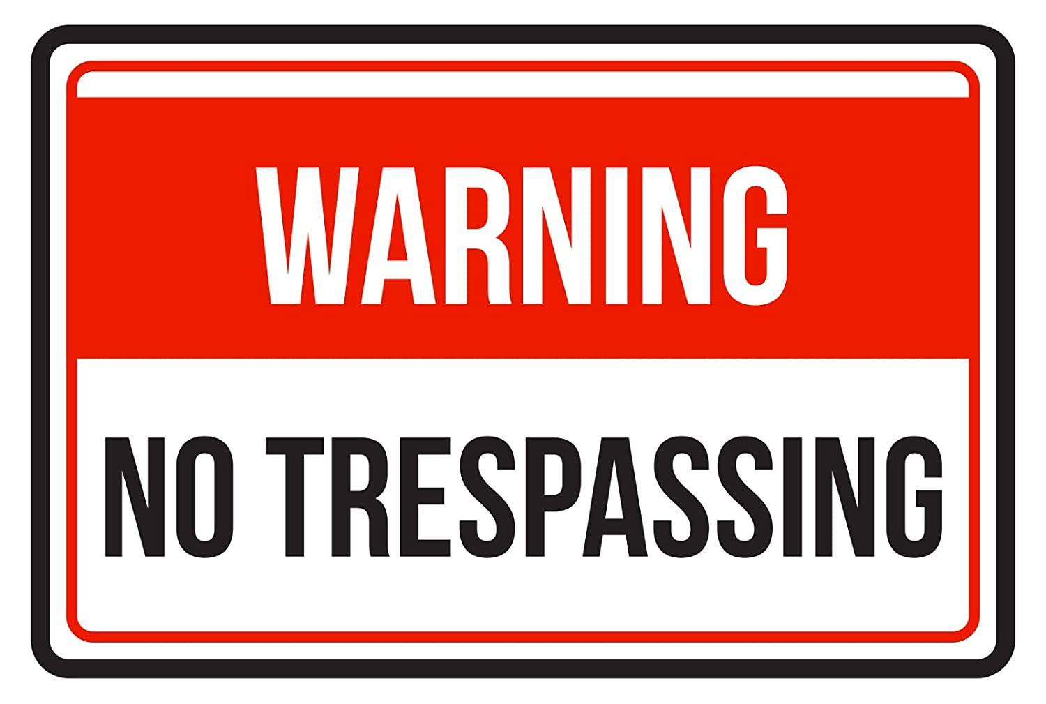 Amazon.com: iCandy Products Inc Warning No Trespassing ...