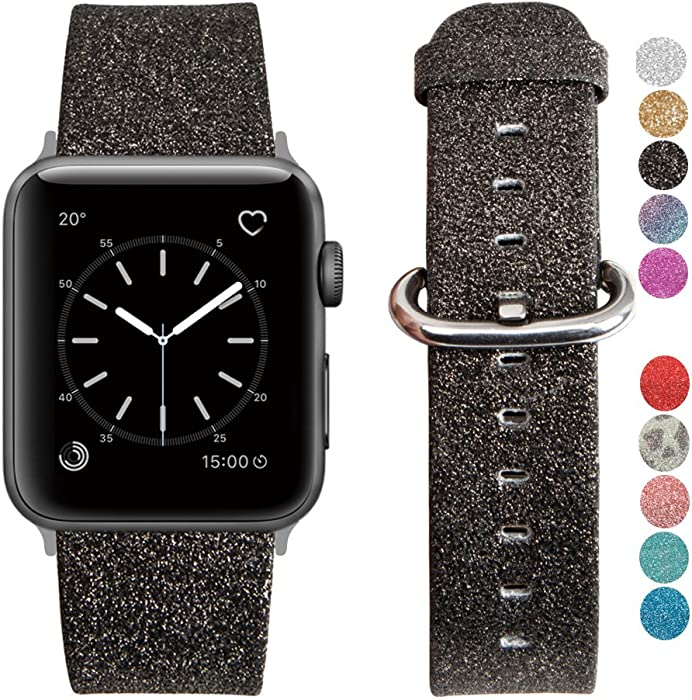 The Best Sparkly Black Silicon Apple Watch Band 42 Mm
