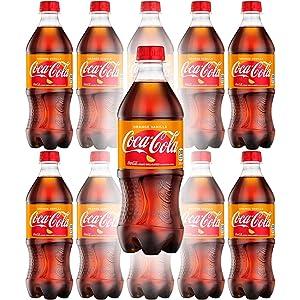 Orange Vanilla Coke Coca-Cola Soda Drink, 20oz Can (Pack of 10, Total of 200 Fl OZ)