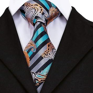 AK Hombres S Tie Tie Corbatas de rayas azules de moda para ...