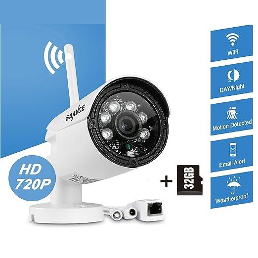 2 opinioni per SANNCE 720P IP Camera Telecamera di Sorveglianza Casa Interno ed Esterno