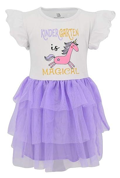 Amazon.com: Vestido de unicornio único para bebé y niña ...