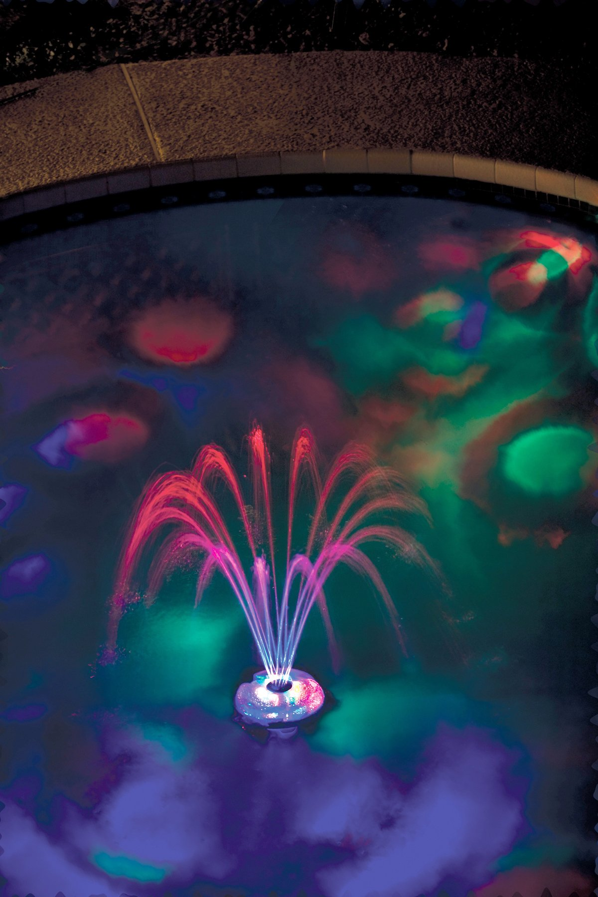GAME 3567 Underwater Light Show & Fountain, 6.9 x 6.9 x 4.4 inches, Blue