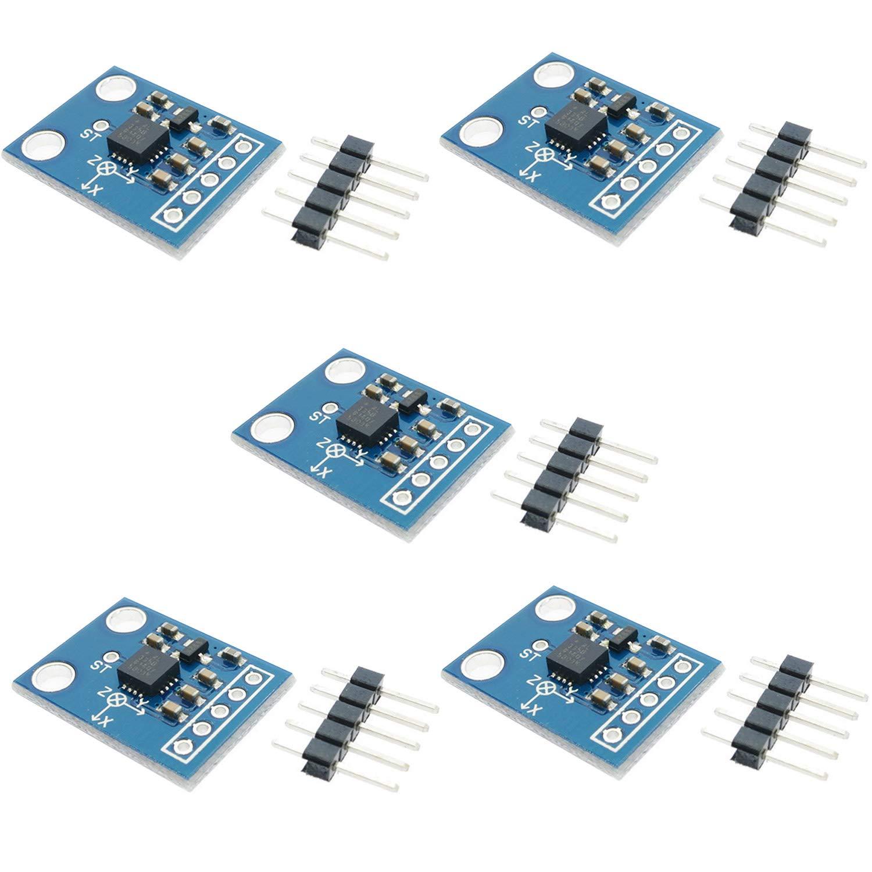 Partstower GY-61 ADXL335 Module 3-axis Digital Gravity Angle Sensor Tilt Angle Module for Arduino