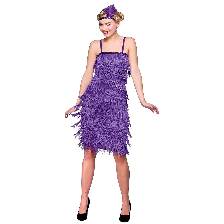 Amazon.com: Purple Jazzy Flapper Adult Fancy Dress 1920s Showtime ...
