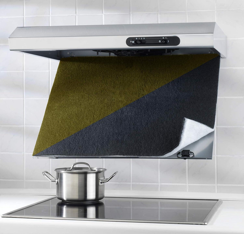 Wenko Filtro Combinado con Carbón Activo, Poliéster, Negro, 47x57x3 cm: Amazon.es: Hogar