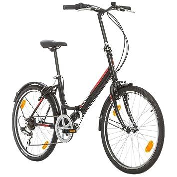 Bicicleta plegable racer folding negra 20