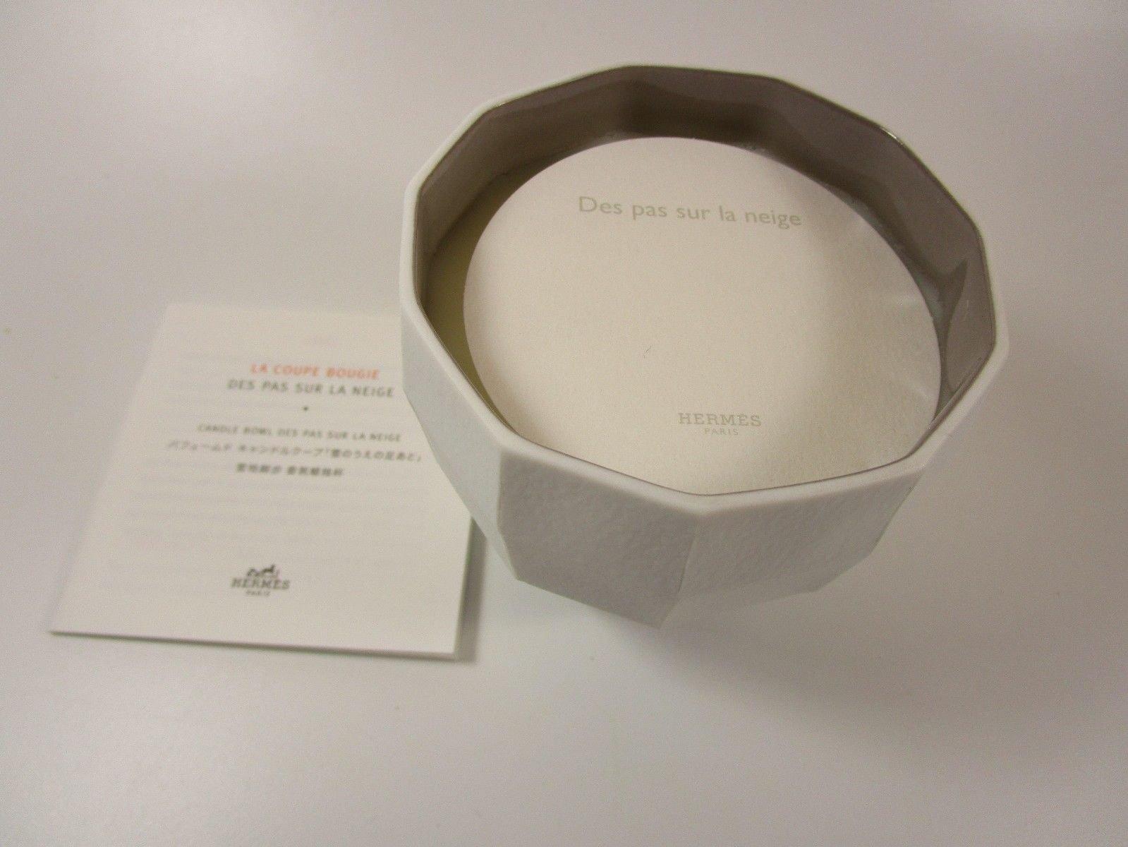 HERMES Le Parfum de la Maison Bougie Scented Candle Bowl 5 Wick DES PAS SUR LA NEIGE Jumbo Size