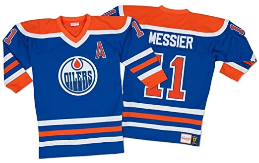 35bd68493 Amazon.com   Mark Messier Edmonton Oilers Mitchell   Ness Authentic 1986  Blue NHL Jersey   Sports   Outdoors