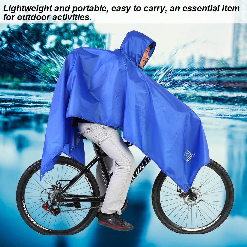 Vbestlife 3 in 1 Multi-Functional Raincoat Outdoor Climbing Rain Poncho Jacket Cover Tent Backpack Rainwear Rain Cover for Camping Hiking Cycling Traveling