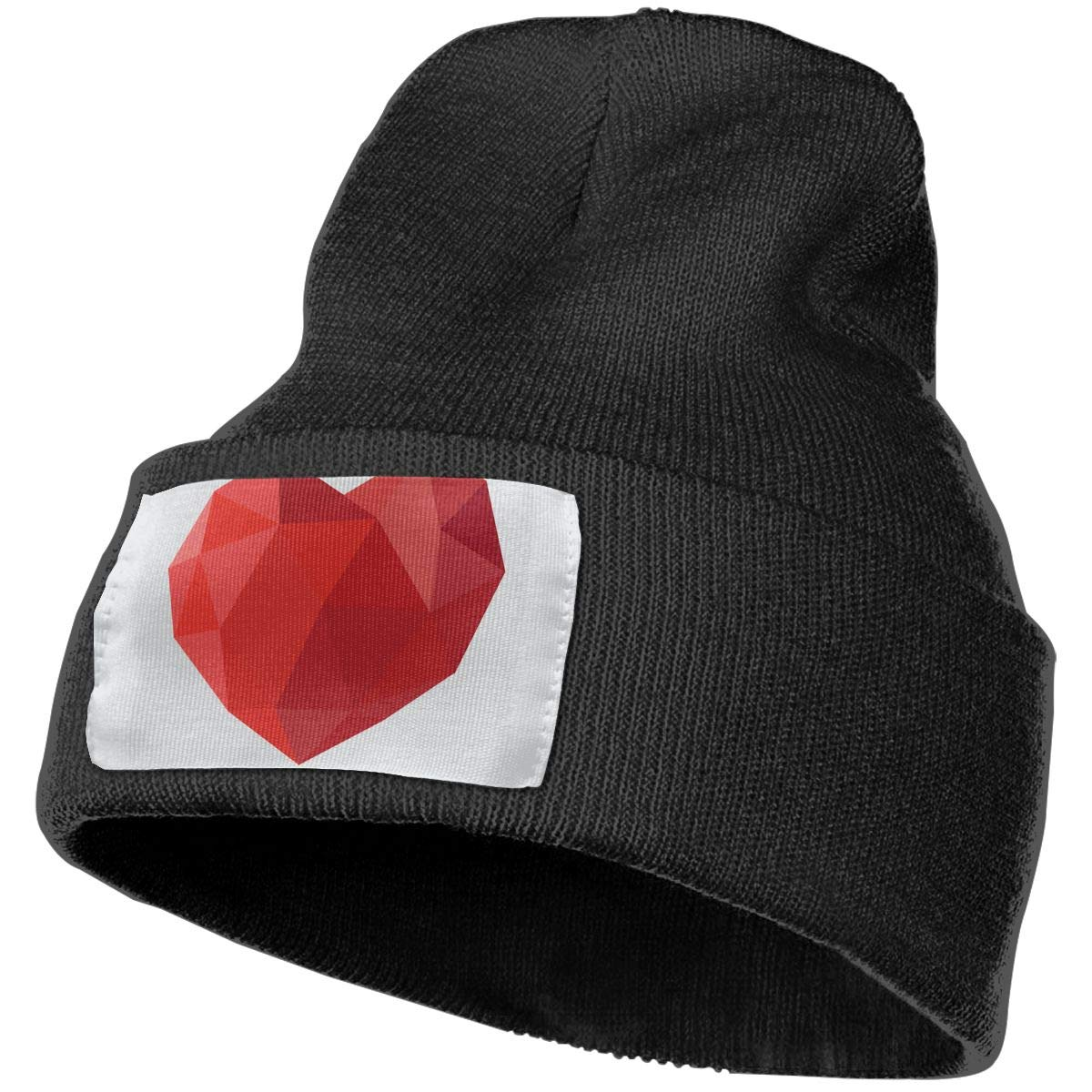 Red Heart Abstract Isolated On A Grey Backgrounds Unisex Fashion Knitted Hat Luxury Hip-Hop Cap