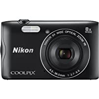 Nikon COOLPIX A300 20.1MP Digital Camera with 2.7-Inch LCD, Black (Certified Refurbished)