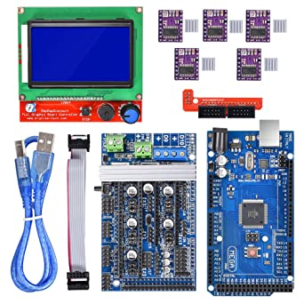King Print Mega 2560 R3 Board + LCD12864 + Ramps 1.6 + 5pcs ...