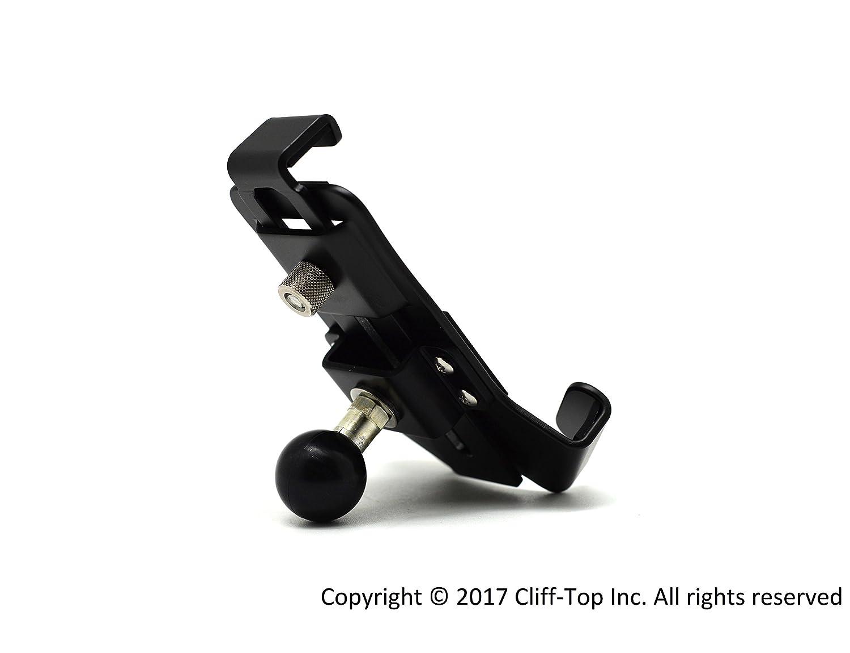 Cliff-Top Base de montaje del espejo retrovisor de la motocicleta con el agujero de 10m m y la bola de 1 pulgada