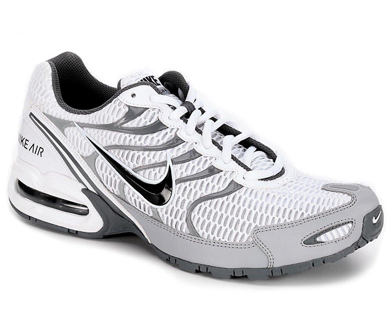 NIKE Men's Air Max Torch 4 Running Shoe B0059YB2TA 10.5 D(M) US|White/Anthracite-wolf Grey