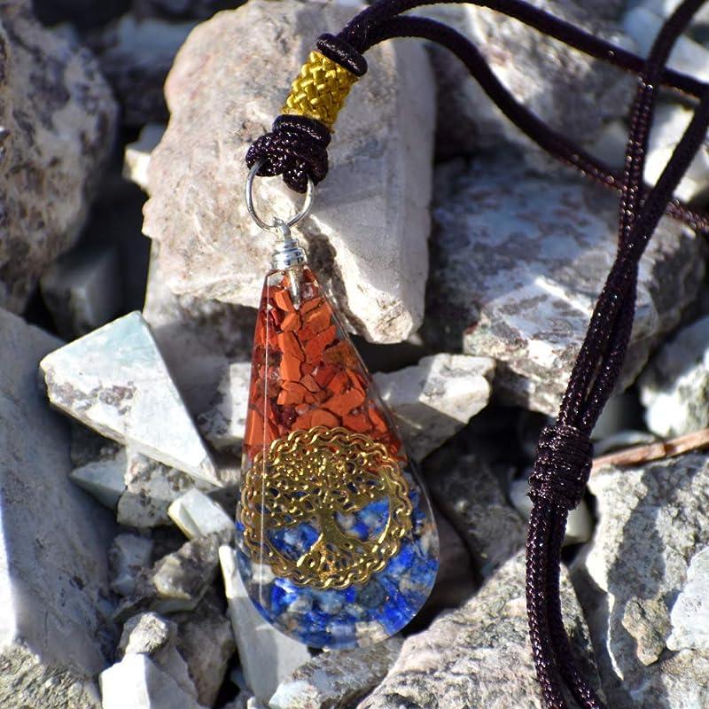Red Jasper AnsuzOsAsAesir Rune Stone Pendant