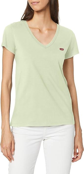 Oferta amazon: Levi's Vneck Camiseta para Mujer Talla L