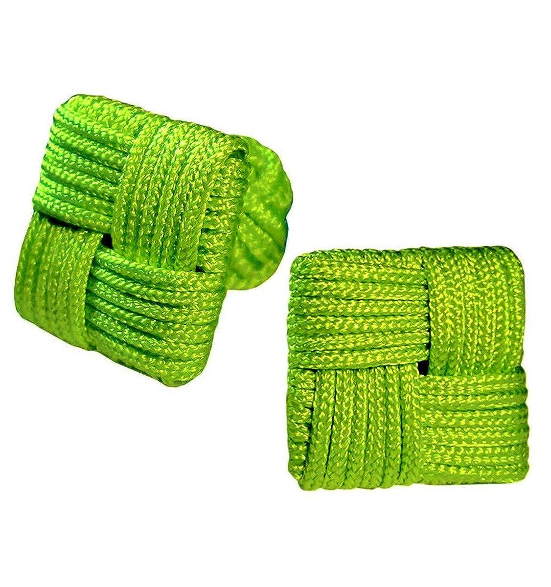 JOSVIL Gemelos de pasamanería elásticos cudradros en color Verde ...