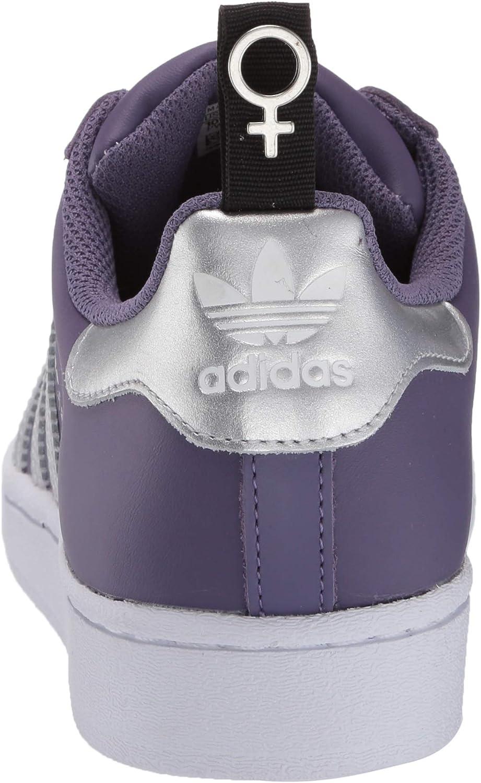 adidas Originals Damen Superstar J Laufschuh Tech Purple Silver Metallic Weiß