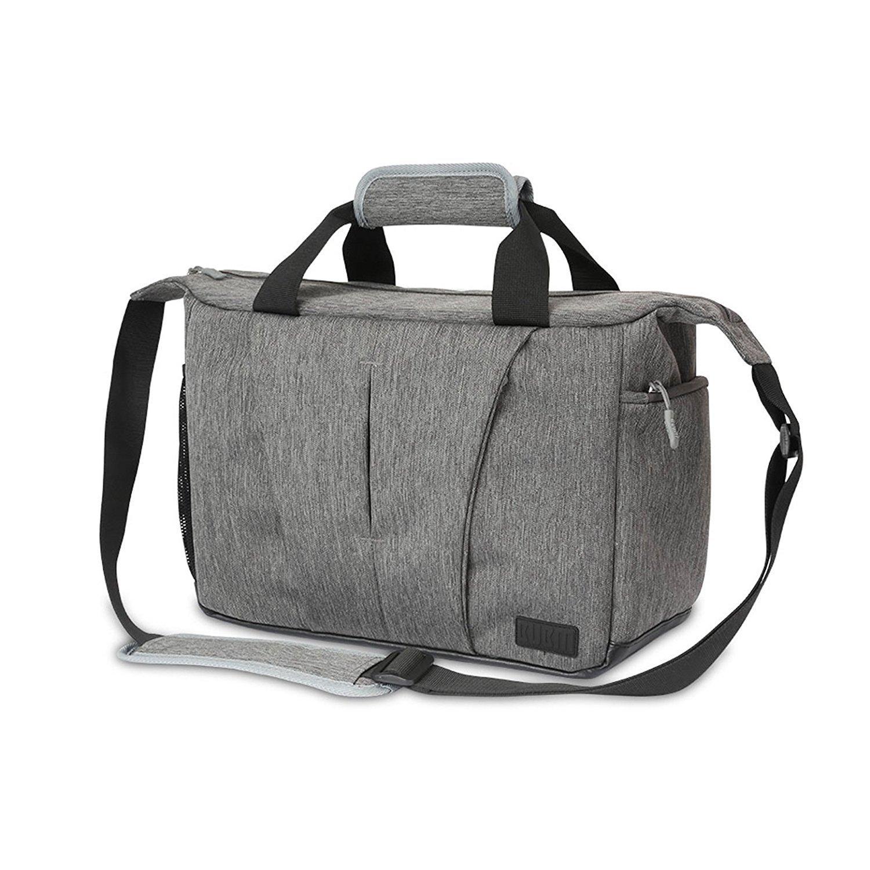 DSLR Camera Messenger Bag Waterproof - BUBM (2018 Heavy Duty Shockproof Padded Camera Case Messenger Camera Laptop Bag Nikon, Canon, Sony, Pentax, Olympus, Panasonic, 2 Year Guarantee
