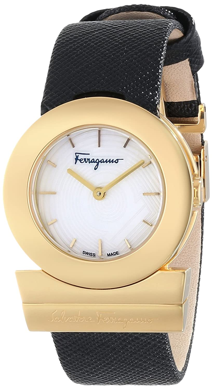 Salvatore Ferragamo Women s FP5040013 Gancino Analog Display Quartz Black Watch