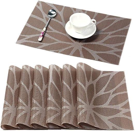 2 × Rectangular Table Mats Non-slip Heat Resistant Placemats Decor 45×30cm