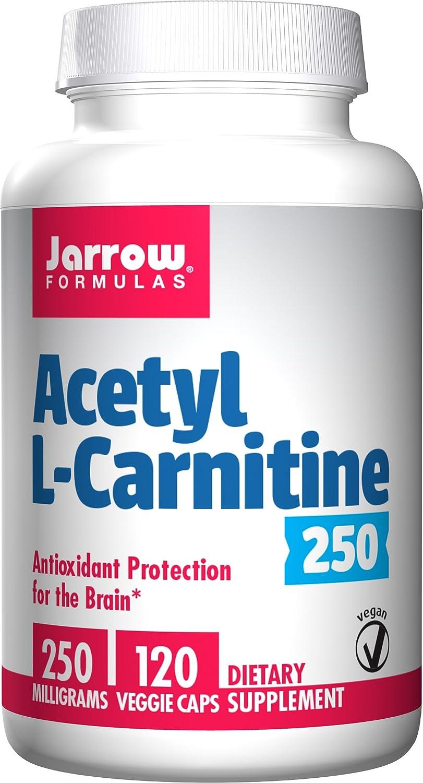 Acetil L-Carnitina 250, 250 mg, 120 cápsulas - Jarrow Formulas: Amazon.es: Salud y cuidado personal