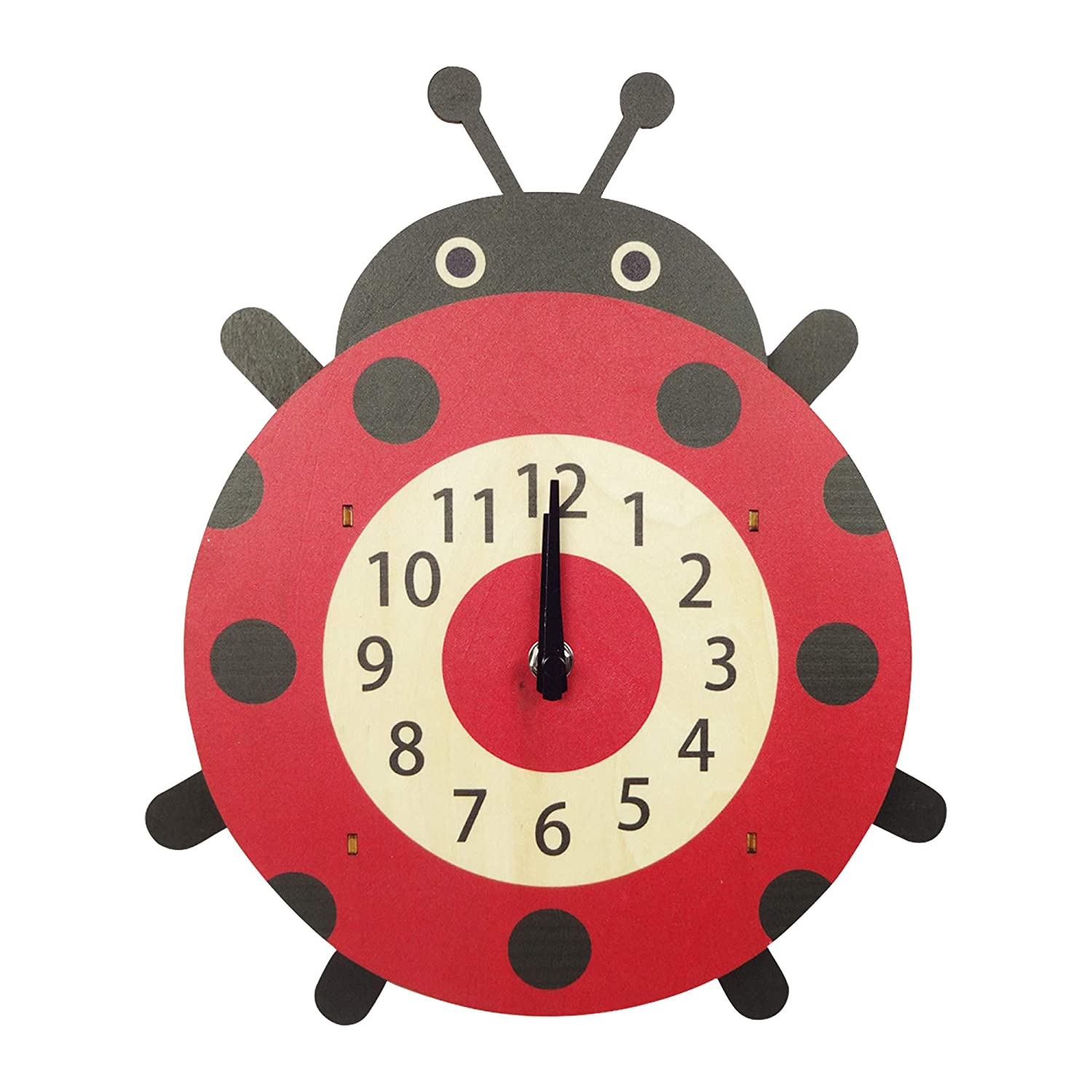 Buy Bag Of Small Things Wood Beetle Design Pendulum Wall Clock Animal Beetle 12 5 Inch X 1 3 Inch X 7 8 Inch Online At Low Prices In India Amazon In