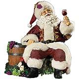 Kurt Adler Fabriche Wine Santa, 9-Inch
