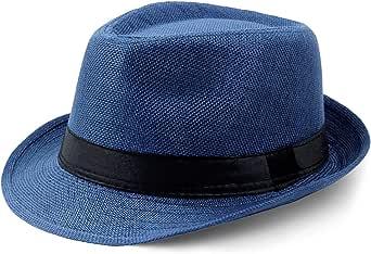Coucoland Sombrero Panama Mafia Gangster para hombre, Fedora Trilby Bogart de los años 20, accesorio para disfraz de Gatsby