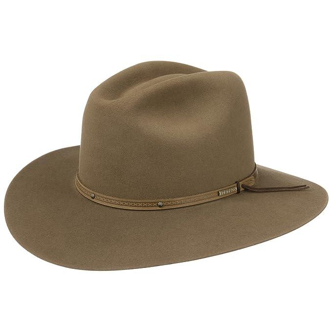 2712b12c1 Stetson Sombrero de Vaquero Gunnison Hombre | Rodeo con Banda Piel  otoño/Invierno | 61 cm castaño Claro: Amazon.es: Ropa y accesorios