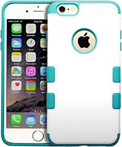 MyBat APPLE iPhone 6 Plus Natural TUFF Merge Hybrid Protector Cover - Retail Packaging - Teal/White