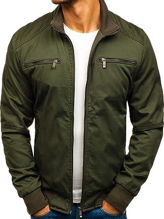 BOLF Herren Übergangsjacke mit Reißverschluss Stehkragen Taschen Casual  Style 4D4  Amazon.de  Bekleidung ef2909a8e1