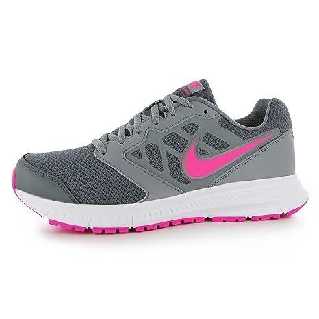 Nike Downshifter 6 – Zapatillas de Running para Mujer Gris/Rosa Run Fitness Zapatillas Zapatillas