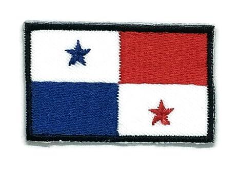Parche para planchar con la bandera de Panamá bordado, tamaño mediano