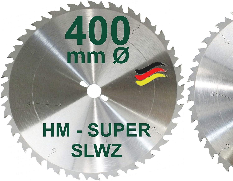 HM S/ägeblatt 400 x 30 mm SUPER-LWZ Hartmetall Pr/äzision Kreiss/ägeblatt S-LWZ Wechselzahn mit Spanabweiser S/ägen mit Wipps/äge Tischkreiss/äge Kreiss/äge Kapps/äge Gehrungss/äge Brennholzs/äge Tischs/äge SLWZ