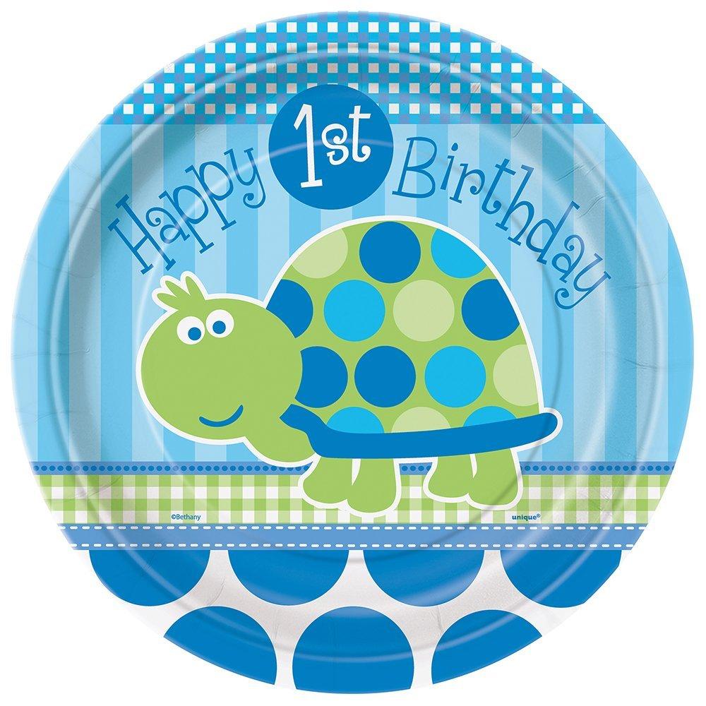 8ct Turtle 1st Birthday Invitations