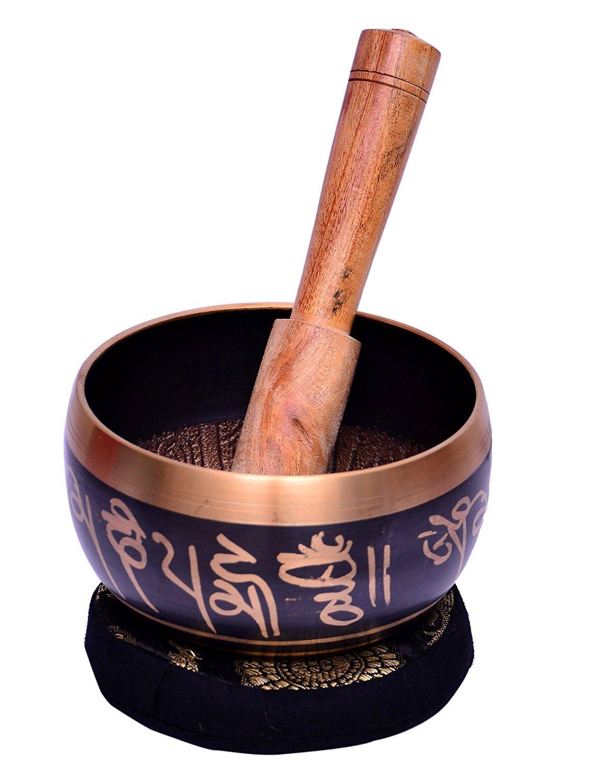 Bell Metal budistas tibetanos cantando Bowl