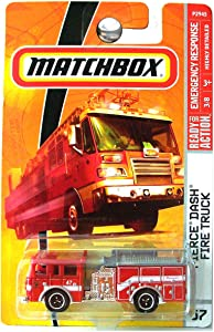 Matchbox 2010 Pierce Dash Fire Truck #57/100 Paramedic, Fire Department, Emergency Response 1:64 Scale Collectible Die Cast Car