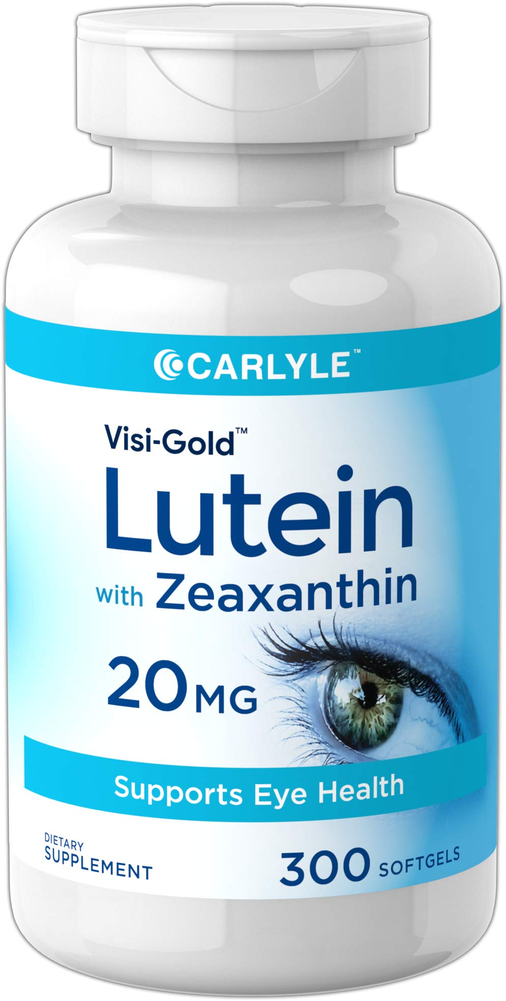 Carlyle Lutein 20 mg with Zeaxanthin 300 Softgels | Huge Size | Non-GMO, Gluten Free Supplement