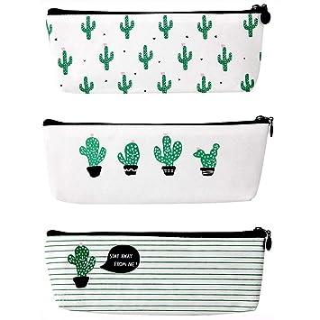 Estuches con estampado de cactus, de la marca Denmarkt, 3 ...