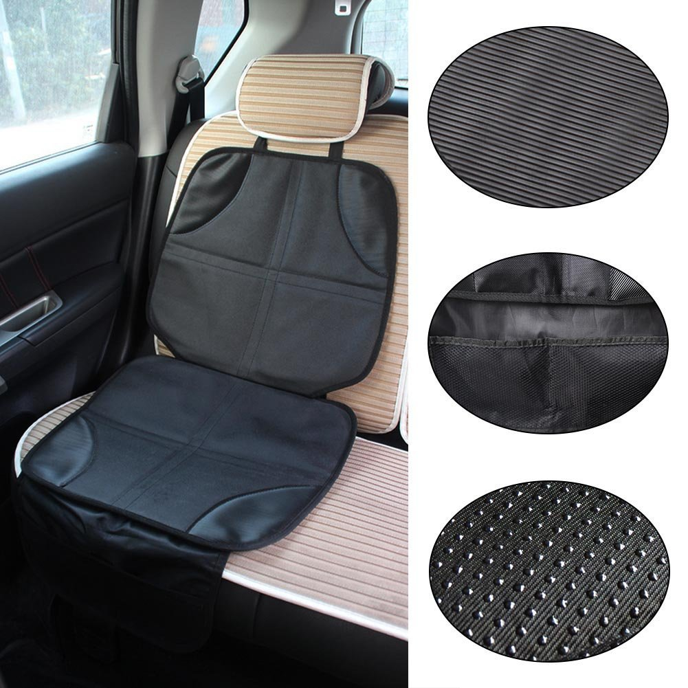 Baby Car Seat Protector Mat, Car Child Seat Protection Pad Safety Seat Anti - skid Anti - wear Car Seat Car Seat Protection Pad (Black) Langdy