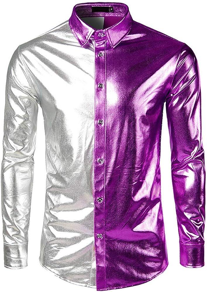 PARVAL Hombre Venta de liquidación Camisa para Hombre Superficies Recubrimiento Camisas Rendimiento de Moda Camisas de Manga Larga Hombres Nuevos Camisas de Manga Larga pintadas Camisas: Amazon.es: Ropa y accesorios