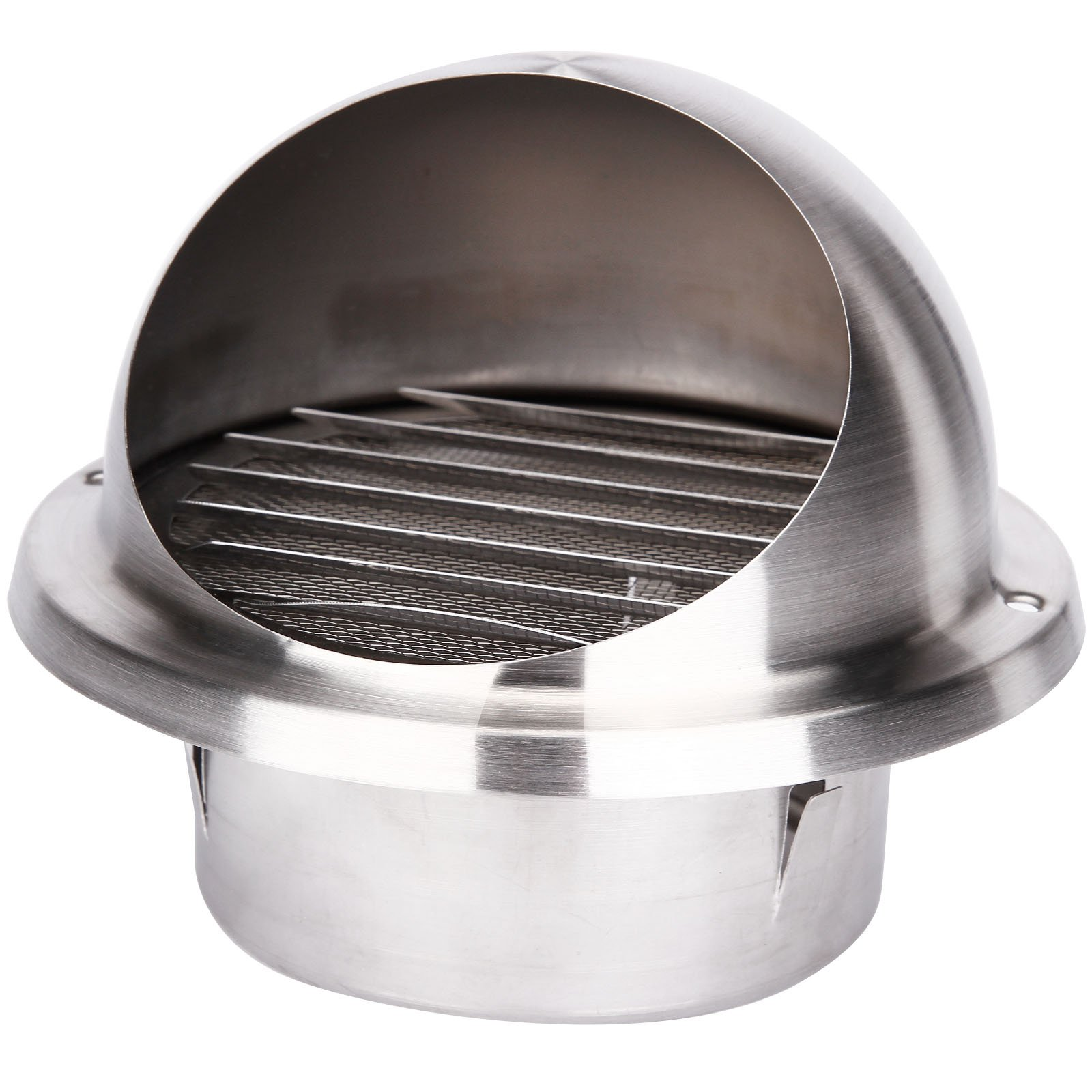 Surepromise 304 Stainless Steel Wall Air Vent Metal Cover Outlet Exhaust Grille 150MM 6inches Ball